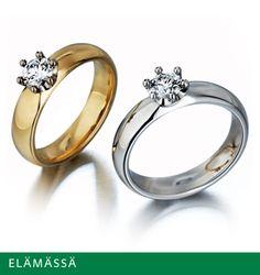 Kalevala Koru | Korut hopea koko 19 Hopea, Finland, Contemporary Design, Wedding Rings, Engagement Rings, Jewellery, Stuff To Buy, Enagement Rings, Jewels