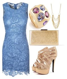 Blue Lace And Gold by ellary-branden on Polyvore featuring Alice & You, Yves Saint Laurent, Chanel and Panacea