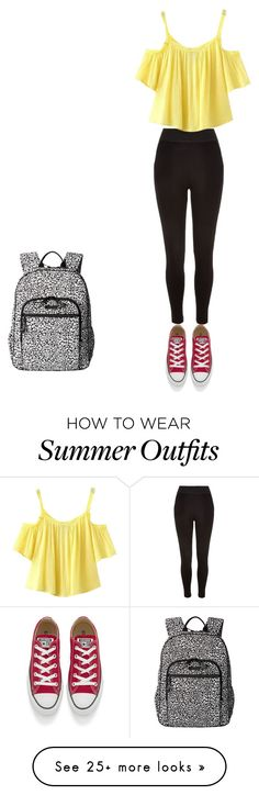 """Summer of 2016-outfit 23"" by umanamelb on Polyvore featuring Vera Bradley, River Island, Chicnova Fashion and Converse"
