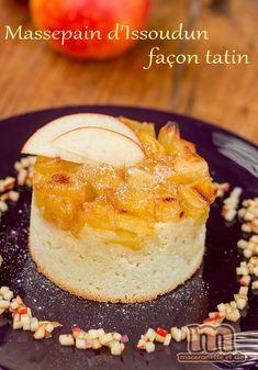 Massepain d'Issoudun façon tatin et sa brunoise de pomme à la vanille - recette autour des pommes Ariane - Macaronette et cie