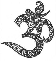 om tattoo henna - Google Search