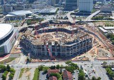 April 2015 New Atlanta Stadium Aerial Photos. For more photos: http://atlfal.co.nz/1FKZ48R