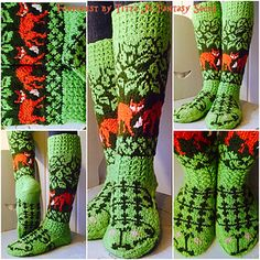 Ravelry: Kettumetsäsukat pattern by Titta Järvensivu — Hei sinulle neuloja! Knitting Charts, Knitting Socks, Hand Knitting, Knitting Patterns, Crochet Patterns, Knitted Slippers, Wool Socks, Crochet Motif, Knit Crochet