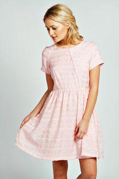 Daisy Textured Fabric Prom Dress at boohoo.com
