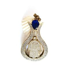 1pc Antique Bronze with Blue and Clear Crystal by 1dream on Etsy