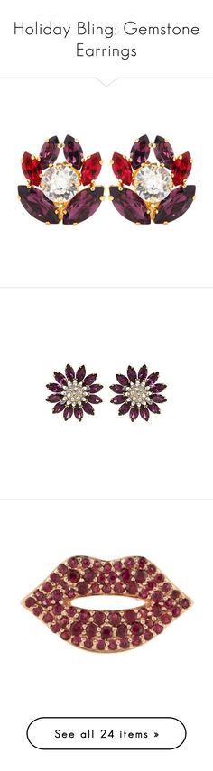 """""""Holiday Bling: Gemstone Earrings"""" by polyvore-editorial ❤ liked on Polyvore featuring gemstoneEarrings, jewelry, earrings, purple, dolce gabbana jewelry, clip back earrings, purple jewelry, dolce gabbana earrings, purple earrings and accessories Purple Earrings, Purple Jewelry, Clip Earrings, Gemstone Earrings, Dolce And Gabbana Earrings, Fashion Beauty, Polyvore, Editorial, Bling"""