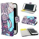 For Apple iPhone 5S Case, Macoku iPhone 5 5S Case Wallet Leather Cover [Credit Card ID Holders Flip] [Colorful Pattern] [Fashion Cute] Wallet Pouch Cover Skin for Apple iPhone 5 5S