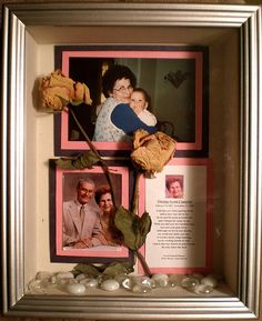 Shadow Box, A home made shadow box decorated in memory of a lost loved one