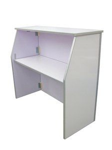 Portable Folding White Finish Bar - Commercial Quality with Four Foot Serving Area by TentandTable. $444.99. Locks Positively in Opened and Closed Positions.. Large Four Foot Service Area Prevents Blockage of Prep Area by Keeping Condiment Caddies Within Easy Reach. Folding Design for Easy Space Saving Storage and Portability. The Top of the Bar Can Be Easily Removed. This Portable Bar is Designed for Service and Drink Preparation Ease. This portable folding bar is designe...