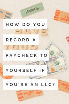 Answer: You can record this an an owners' draw from your business. This is not an expense. You can write yourself a check, or just make a transfer from your business banking account to your personal banking account. Owner draws should not show up on your income statement.