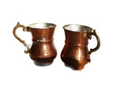 vintage moscow mule copper mugs - etsy