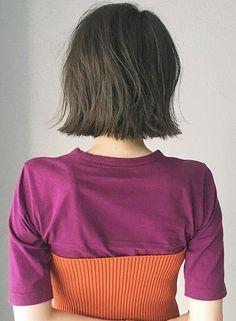 暗めでも透明感バッチリボブ【KHAKI(カーキ)】 https://www.beauty-navi.com/style/detail/62203?pint ≪#haircolor #hairstyle #color #ヘアカラー #ヘアスタイル #髪形 #髪型 #ハイライト #highlight≫
