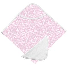 Kushies Hooded Bath Towel / Face Cloth Pink Berries