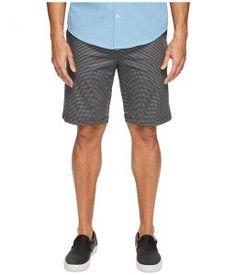 Calvin Klein Pixel Houndstooth Printed Shorts (Black) Men's Shorts