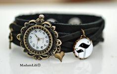 Skórzany zegarek handmade ♥ Życie we dwoje  #Ribell #MadameLili #zegarki #modadamska >> Wybierz Twój na: https://www.ribell.pl/zegarki-recznie-robione-handmade