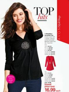 Avon Medallion Accented Top. I bought the black for myself. Shop today at www.youravon.com/adavis0493
