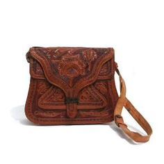 vintage hand tooled leather shoulder bag by myfavoritevintage, brings back memories of seeing so many women carry them when I was 3-4 yrs old