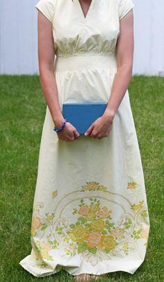 DIY: maxi dress from a vintage sheet