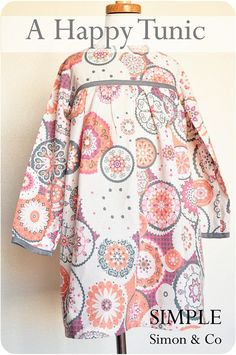 A Happy Tunic Tutorial: tunic style dress (which can also be made into a shirt with leggings) by Simple Simon and Company #sewing #SewforGirls #Dresses