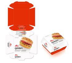 Goody's Restaurant packaging burger by mousegraphics Burger Packaging, Bakery Packaging, Food Packaging Design, Food Graphic Design, Menu Design, Food Design, Sweet Box Design, Lunchbox Design, Starbucks Art