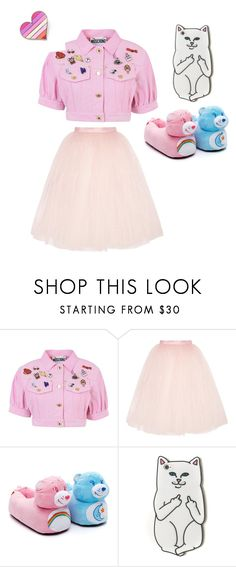 """cute Melanie Martinez - like outfit"" by kailigarcia ❤ liked on Polyvore featuring Moschino, Ballet Beautiful and RIPNDIP"