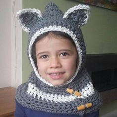 Childrens Animal Scoodie