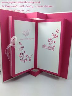 inside view of card from Papercraft With Crafty ... pop-up  book look ... Stampin' Up!