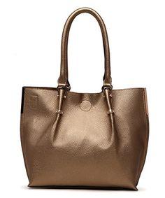 Love this Champagne Gold Antoinette Shoulder Bag on #zulily! #zulilyfinds