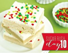 Sugar Cookie Bars ~ who seriously has a 13 x 18 pan!?
