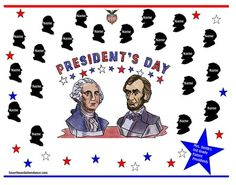 President's Day Smartboard Attendance from Innovative Resources on TeachersNotebook.com (2 pages)