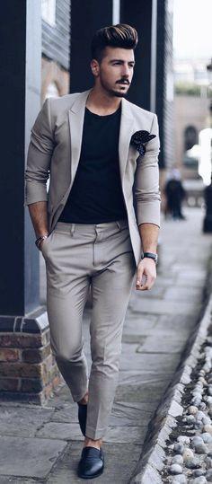 9 Beyond Cool Street Styles Looks For Men - Dress World for Men Tall Men Fashion, Mens Fashion Blog, Mens Fashion Suits, Fashion Styles, Mens Suits, Men's Fashion, Fashion Black, Fashion Tips, Gentleman Mode