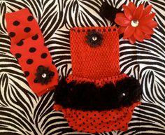 ADORABLE... Little ladybug Set