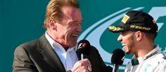 #Schwarzenegger entrevista a #Hamilton en el podio. #fórmula1 #F1 #Australia #Melbourne #deporte #Rosberg #Vettel #Mercedes #Ferrari #Cuernavaca
