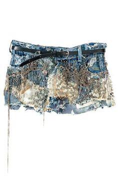 Balmain Denim Studded mini skirt. I don't wear denim skirts, but this one I would.