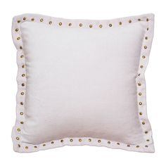 Pale Pink Studded Velvet Throw Pillows   Great site for decorative pillows and bedding   www.craneandcanopy.com
