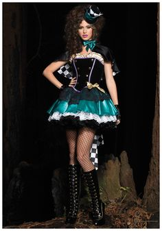 Deluxe Tea Time Mad Hatter Costume