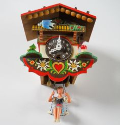 Hey, I found this really awesome Etsy listing at https://www.etsy.com/listing/191267138/vintage-bavarian-theme-clock