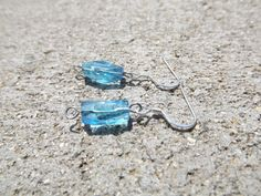 $15 - www.etsy.com/shop/JustHeathersJewelry - Sky blue bead earrings - plastic - gift idea - handmade earrings. Use coupon code PINS15 for 15% off your total purchase.