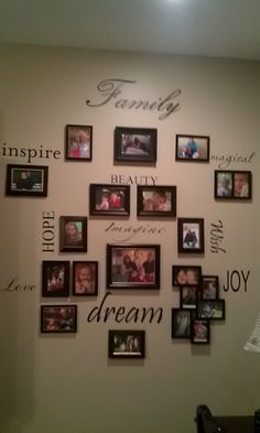 Photo wall. Thought of you for your kitchen or family room