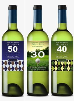 personalized Golf Sports Argyle BIRTHDAY PARTY by shadow090109, $0.99 maybe on bottles of his favorite beer...