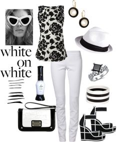 """""""White is in this spring :)"""" by polylover-katt ❤ liked on Polyvore"""