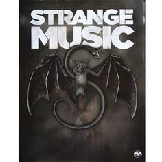 "Limited edition Strange Music Snake and Bat poster - 18"" x 24"""