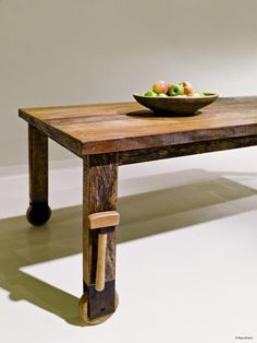 peroba wood furniture. Casual Sophistication Meets Smart Sustainability In Environment\u0027s Wheel Dining Table, Made Of Reclaimed Brazilian Peroba Wood Furniture O