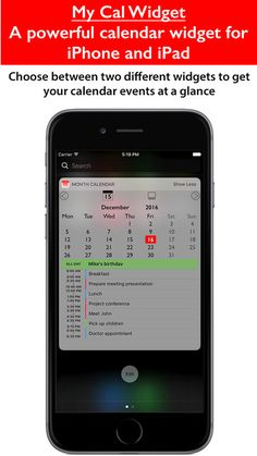 Take a look at this Calendar Widget app on iPhone and iPad! http://apple.co/2hp6Du7 Thank you!