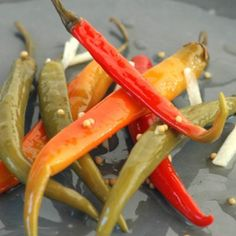 Do this in advance, at least a day before. Warn your friends - this is hot stuff! Allrecipes, Preserves, Pickles, Carrots, At Least, Vegan Recipes, Vegetables, Hot, Chutneys