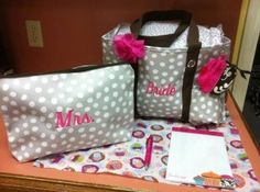 presents for the bride! an organizing utility tote and large zipper pouch from thirty-one. www.mythirtyone.com/laurat