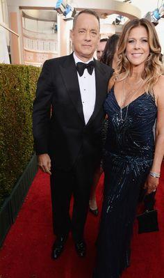 Tom Hanks & Rita Wilson - Golden Globes 2014 Red Carpet
