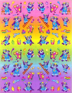 Lisa Frank sticker sheets. #stickers