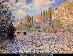 The Seine At Vetheuil - Claude Oscar Monet - www.claudemonetgallery.org