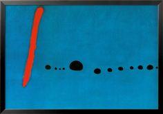 オールポスターズの ジョアン・ミロ「青II」高品質プリント